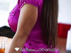 HD - PureMature Busty Lisa Ann loves to taste cum