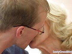 Europejska babcia zapełnia się jizz
