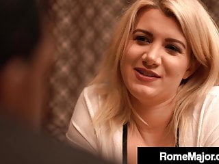 Hardcore Blonde Blowjob video: Horny White Layla Price Wrecked In Restaurant By Rome Major!