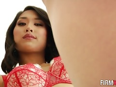 Anally plowed asian babe