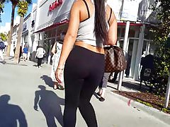 Candid voyeur best spandex ass thick vpl walking