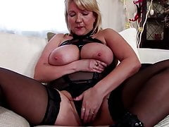 Mature mother dressed like a slut with big boobs