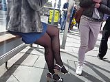 pantyhose legs and feet candid