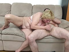 60+ Granny fucks with younger loverboy