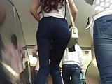 tight candid jeans ass