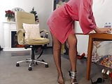 webcam mature lady in black pantyhose