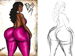 Cartoon Hd Videos video: Big Booty Cherokee D Ass Illustration