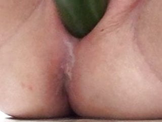 Girl Masturbating video: that cucumber was freezing