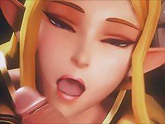 Zelda se siente Hentai Cumming (3D HMV)