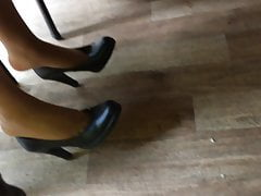 Candid Soles And High-heeled Shoes At Work #10