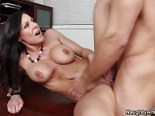 Blowjob Brunette Cumshot video: naughty america Kendra Lust fucking in the floor