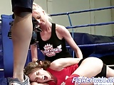 Lesbians Small Tits xxx: Eurobabe dykes wrestle after exercising