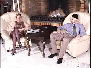 Bdsm Femdom video: Strap On Pantyhose Lady 1