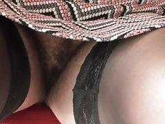 Falda peluda