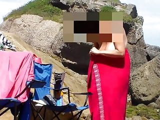 Beach Outdoor Nudist video: Amiga tetona