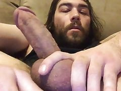 Using new butt plug and prostate massager on my hairy hole
