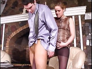 Femdom video: Strap On Pantyhose Lady 2