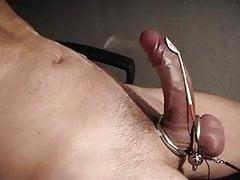 Estim orgasm with cumshot Abspritzen Elektro Stimulation