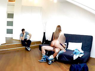 Hidden Cams Sexy Homemade video: HUNT4K. Sexy beauty in knee socks under my control