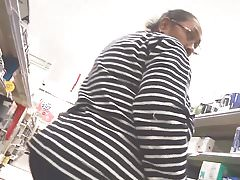 Black granny booty and face