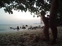Ssanie Dicka na plaży