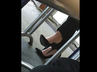 Candid feet and heels at work #12