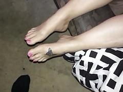 Cumming sui miei piedi ragazza 2