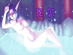 Draenei e Night Elf succhiano Orc Dick