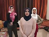 3 Arab girls with an escort