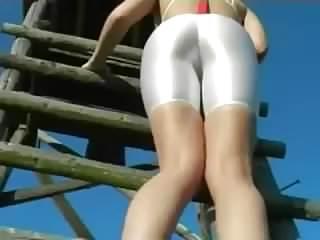 big ass shaking in white spandex part 2  hd 790  pt justporn