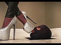 Sklavenglitter heels reinigen