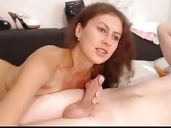Hot Babe Daje jej chłopaka Hot Blowjob