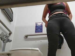 Amateur Hidden Cams video: Walmart Toilet Voyeur (Workout Chick)