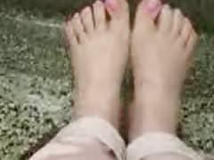 Freund Fuß necken