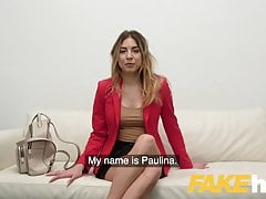 Fake Agent Culo carino russo con tette perfette prende un grosso cazzo