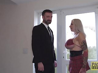Anal British Bdsm video: Huge tits subslut fucked hard in all of her craving holes