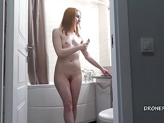 Softcore Czech Teen video: Gorgeous redhead Anabelle - Spy cam