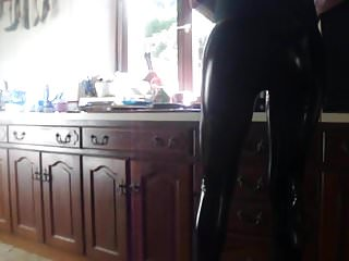 Lesbians French Latex video: vinyl leggings