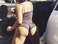 Twerking przy samochodzie