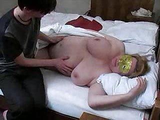 Mature Granny Cumshot video: russian fat mature and boy