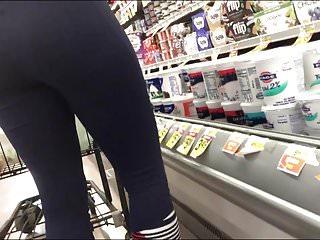 Closeups Hidden Cams Pov video: Nice vpl in leggings showing nice tight ass