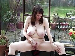 Busty natural mature mother with wet pussy