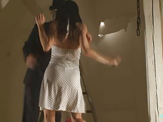Bdsm Spanking porno: Nude BDSM model Alex Zothberg tied + whipped by a stranger