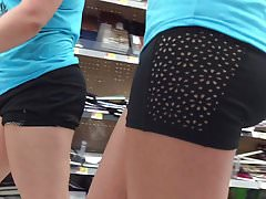 Double PAWG Spandex Shorts Beau Cul