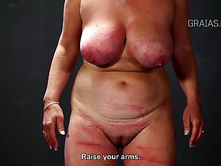 Bdsm Slave Whipping video: Slim girl caned