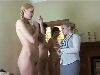 Femdom Spanking Teen video: Teens punished for a week. Stripped spanked all week long!