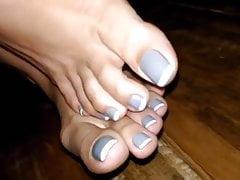 Piękne pedicured palce i stopy
