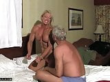 Muscular Woman Mixed Wrestling Domination