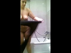 Big Titties Dame After Douche - Spy Cam