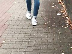 German Hot Teen Ass Candid